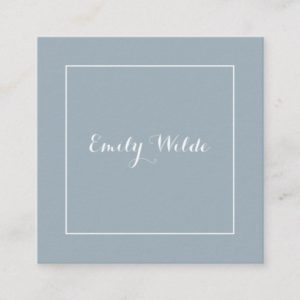 Square calling card Blue White BusinessCard