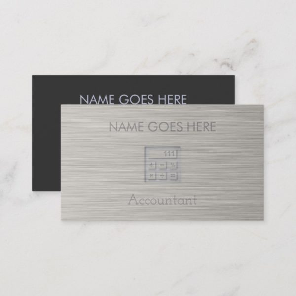 """Steel"" Accountant Business Cards"