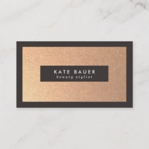 Stylish Faux Copper Beauty and Fashion Business Card