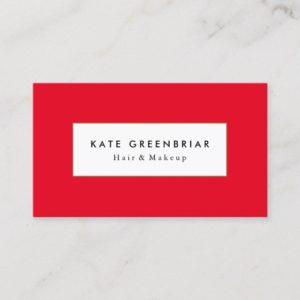 Stylish Modern Red Beauty and Fashion Stylist Business Card