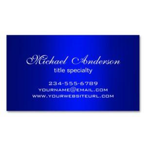 Stylish Plain Blue Gradient Multiple Purpose Business Card Magnet