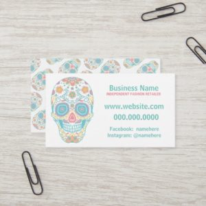 Sugar Skull Lula Fashion Retailer Business Card