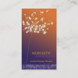 Sunset Dandelion Unique Professional Business Card
