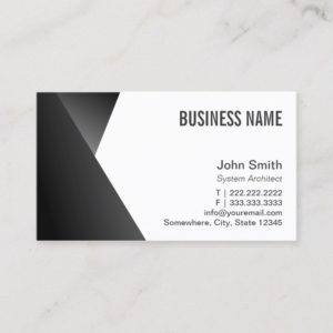 System Architect Modern Black & White Business Card
