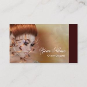 The Redhead - Fantasy/Beauty Business Cards