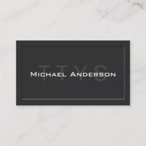 TTYS Simple Elegant Linen Networking Calling Card