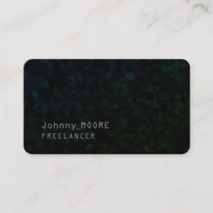 Ultra dark modern futuristic cyber black business card