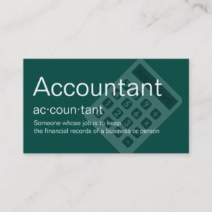 Unique Accountant Business Cards