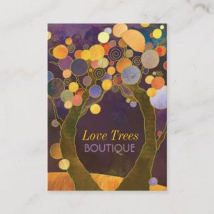 Unique Love Trees Professional Business Cards