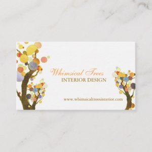 Unique Tree Theme Interior Design Business Cards