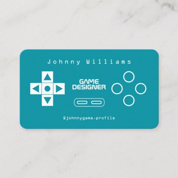 Video game console joypad cover business card