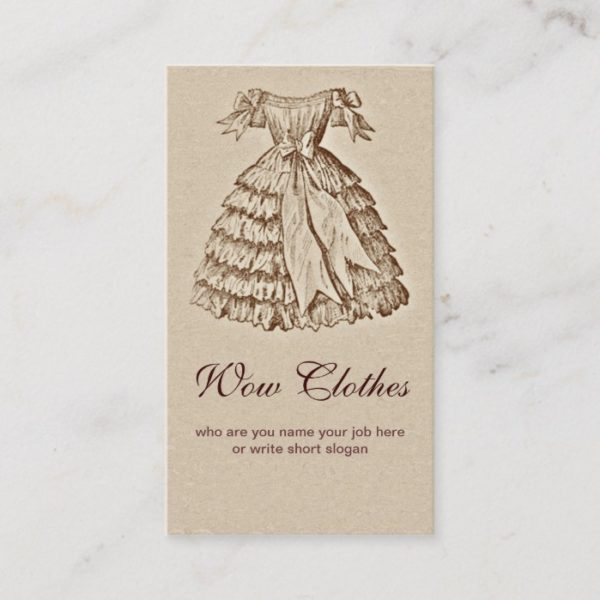 vintage dress fashionable business card