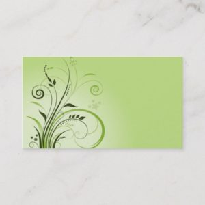 vintage nature green business card template