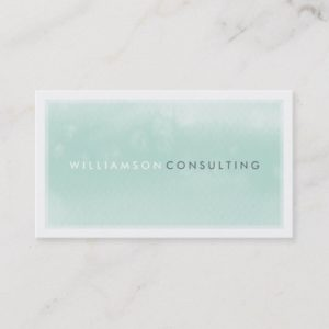 WATERCOLOR BUSINESS CARD :: modern trendy mint