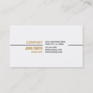 White Professional Plain Elegant Real Estate Business Card