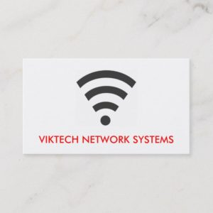 WiFi Network Computer Business Cards