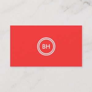 YOUR INITIALS LOGO on RED Business Card